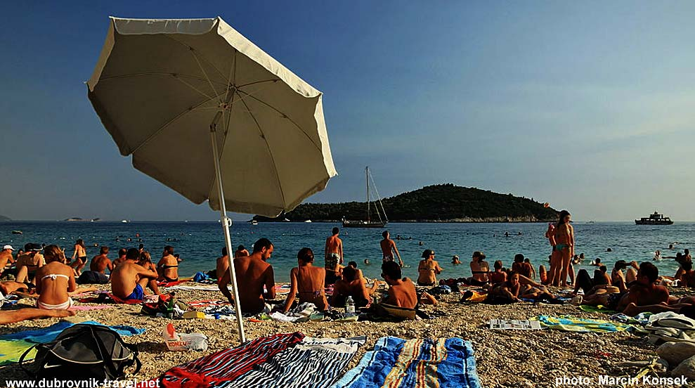 Banje at the very busy period - with views over Lokrum island