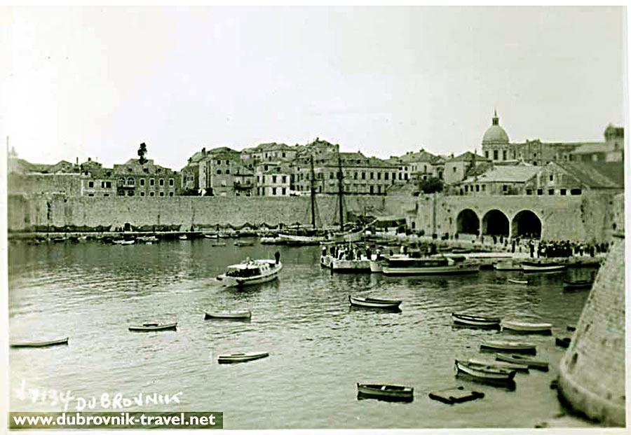 Old Harbour in Dubrovnik in 1950s