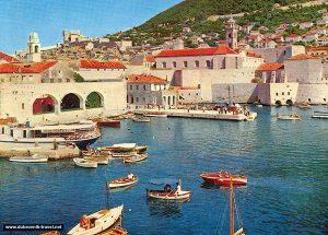 Dubrovnik's Old Port in 1970s