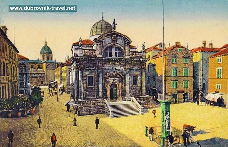 Church of Saint Blaise and Orlando's Column in Dubrovnik