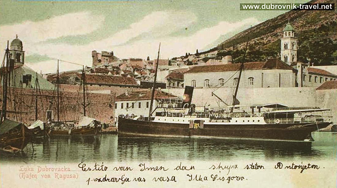 Old Harbour Dubrovnik in 1903
