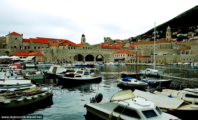 Views over Old Port of Dubrovnik