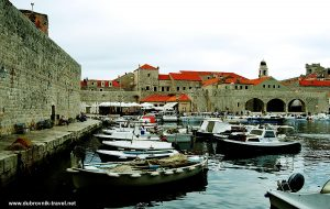 Boats in Old Port of Dubrovnik