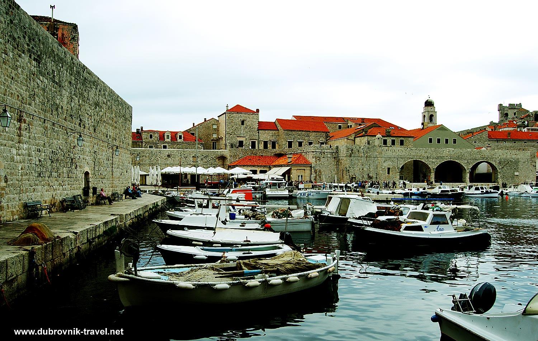 Boats in Old Port of Dubrovnik
