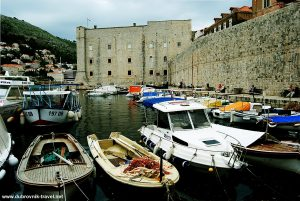 Fishing boats in the Old Port of Dubrovnik
