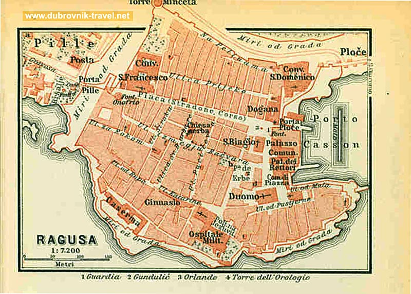 Ragusa Map (1911)