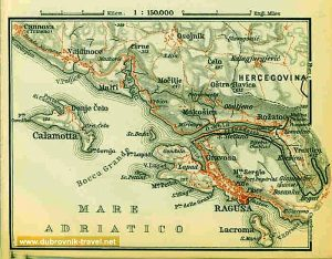 Ragusa and Calamotta Map (1911)