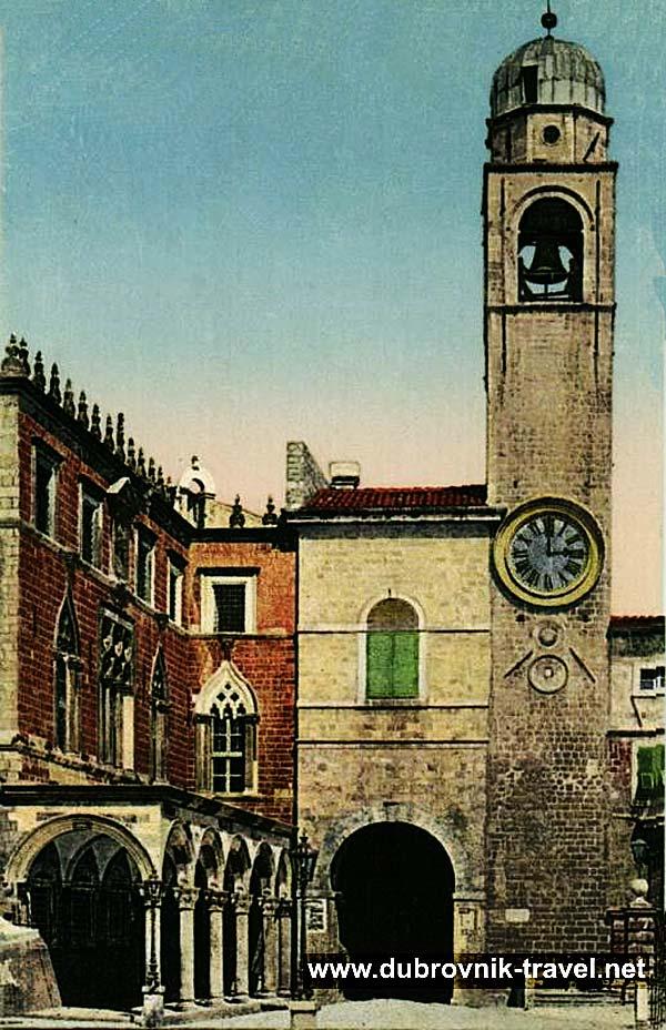 Sponza and Clock Tower @ Stradun,Dubrovnik