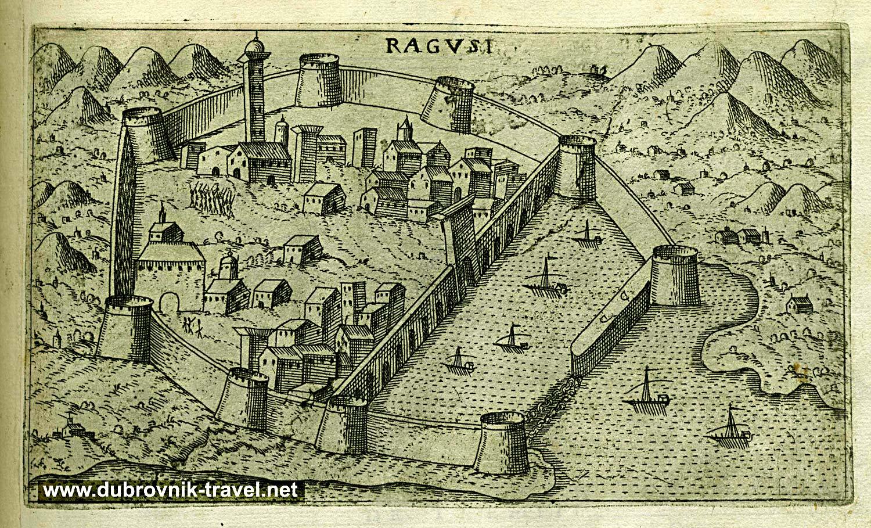 Dubrovnik Town (Engraving)
