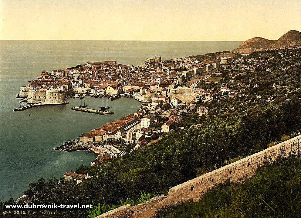 Dubrovnik Old Town in 1900s