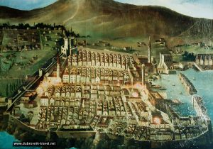 Old Painting of Dubrovnik Old Town