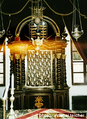 interior fo dubrovnik's synagogue