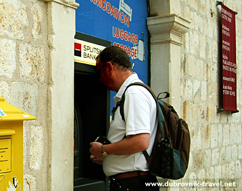 Cash machine in Dubrovnik