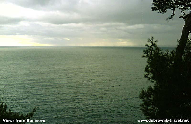 Views over the sea from Boninovo