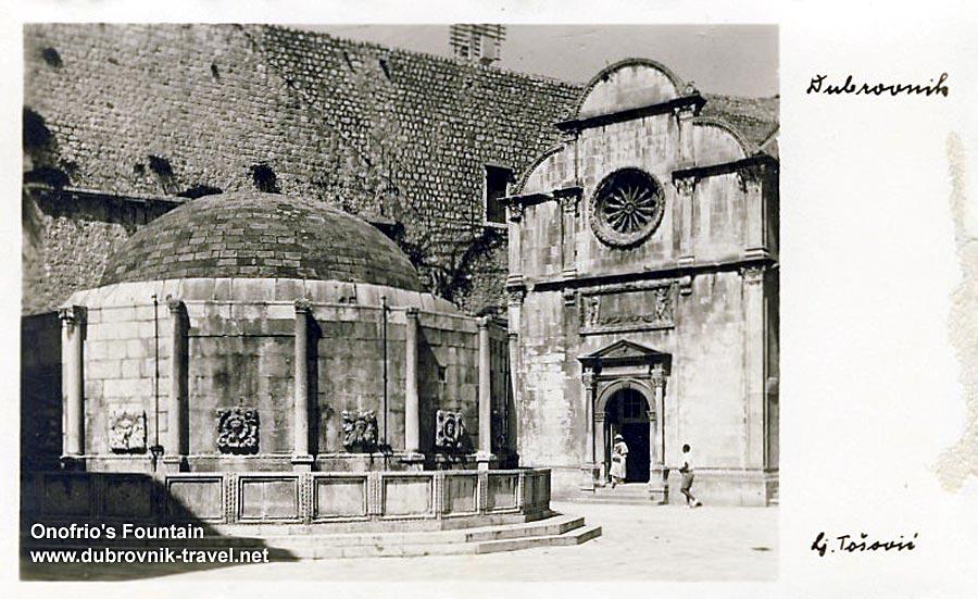 Onofrijeva Fontana and Crkva Svetog Spasa, Dubrovnik (1960s)