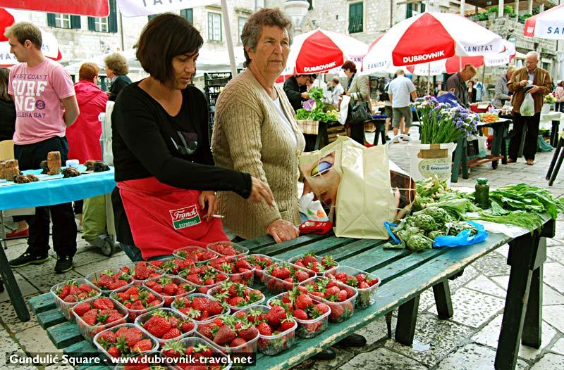 Strawberries at Dubrovnik open air market
