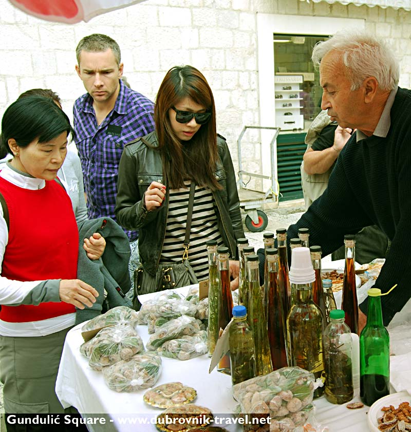Dried figs, local, home made Grappa and other fragrant brandies - delicious on their own or poured into a cup of coffee