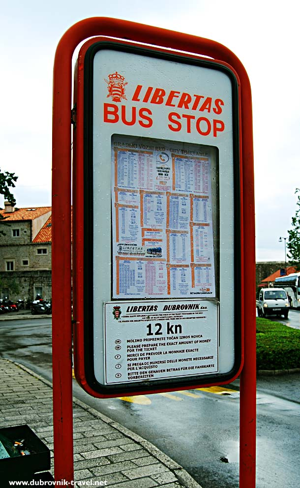 Detailed bus timetables