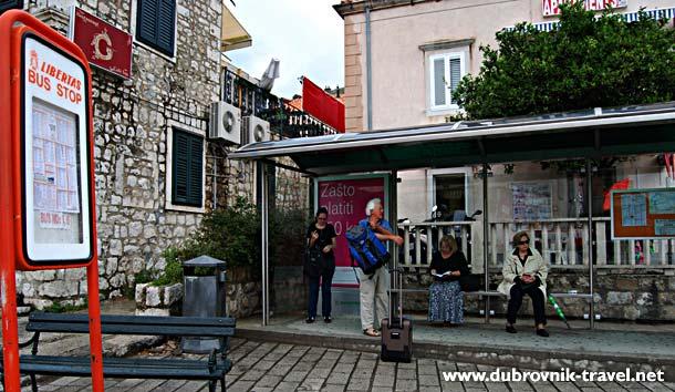 Bus Stop at Pile, Dubrovnik
