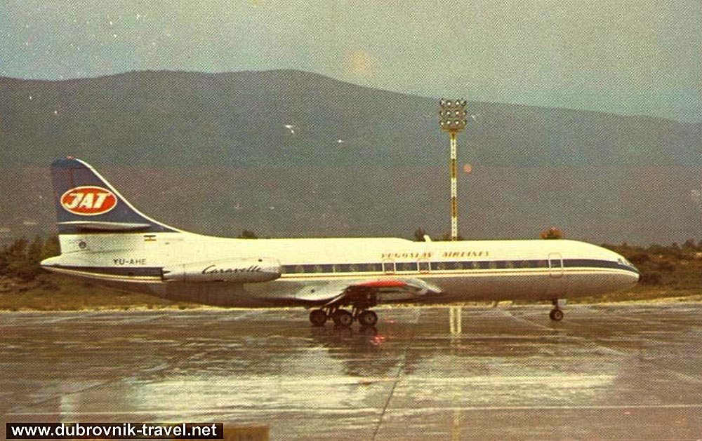 Caravelle in Dubrovnik Airport (1970s)
