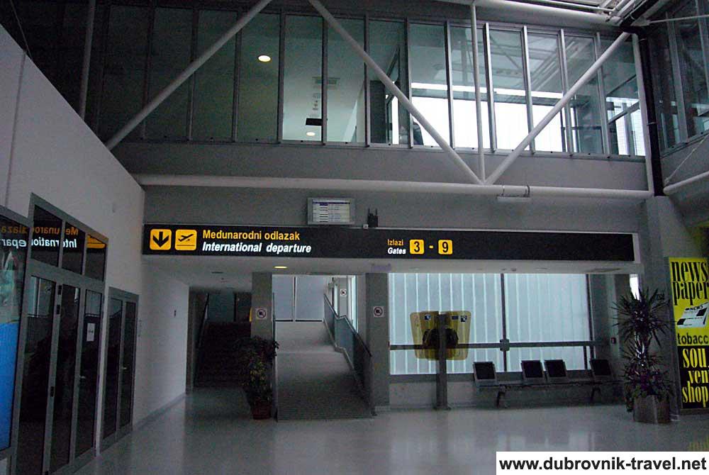 To Departures ,Dubrovnik Airport