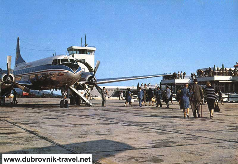 Arrival at Dubrovnik Airport in 1970s
