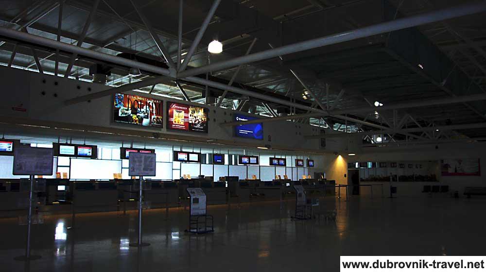 Check In Desks at Dubrovnik Airport