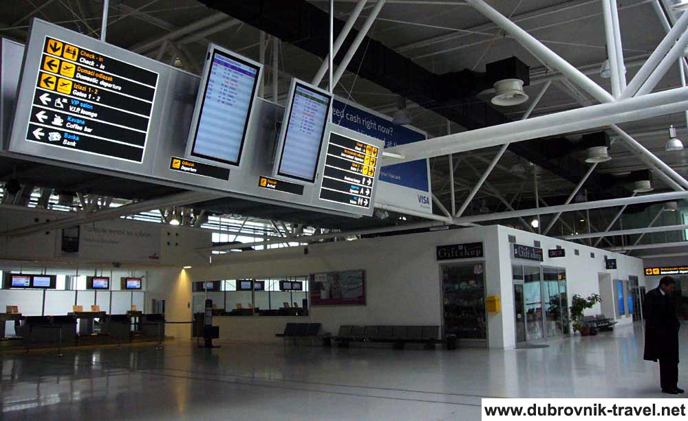 Check In Hall at Dubrovnik Airport