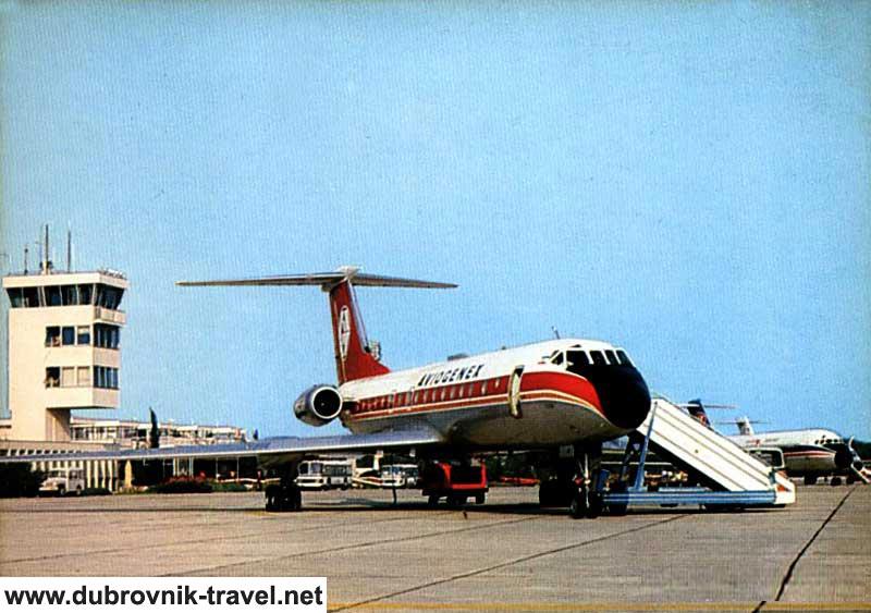 Aviogenex at Dubrovnik Airport in 1970s