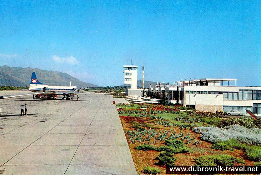 Panorama of the airport from 1970s
