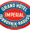 Grand Hotel Imperial Dubrovnik – vintage luggage labels