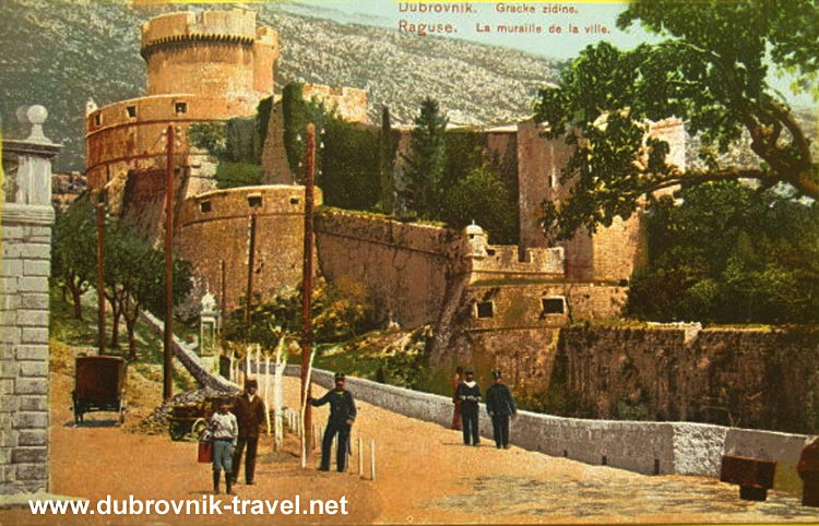 Street Scene and Minceta Tower - Dubrovnik (1900s)