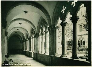 Colonnade of cloister in Dominican Monastery , Dubrovnik