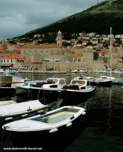Views over Harbour to Dominican Monastery , Dubrovnik
