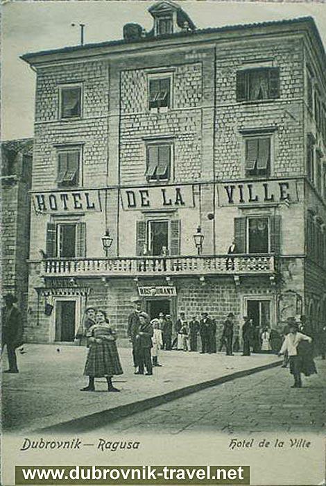 Hotel De La Ville, Dubrovnik 1901