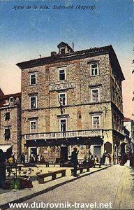 Hotel De La Ville, Dubrovnik 1900s