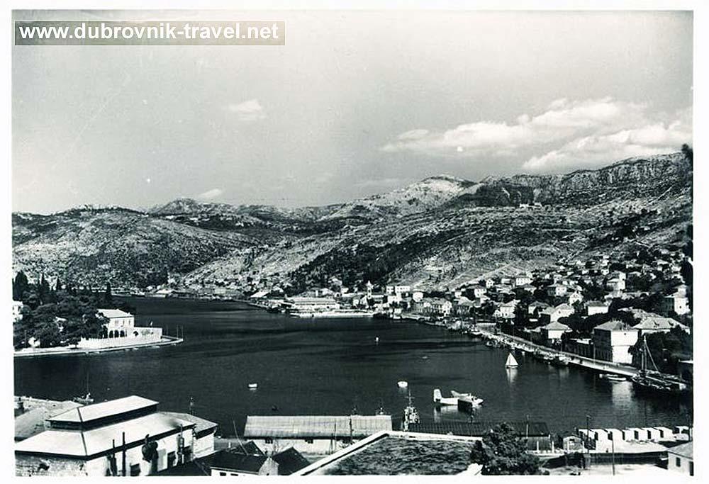 Hydroplane in Dubrovnik in 1950s