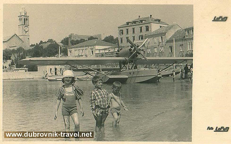 Hydroplane @ Lopud Beach in 1935