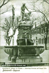 Amerling's fountain, Pile, Dubrovnik (1910)