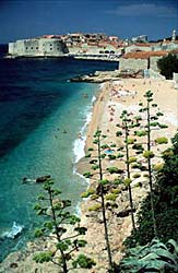 Beaches in Dubrovnik