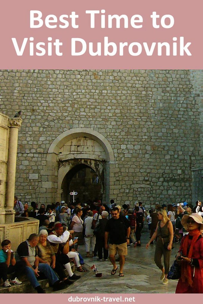 Best time to visit Dubrovnik pin