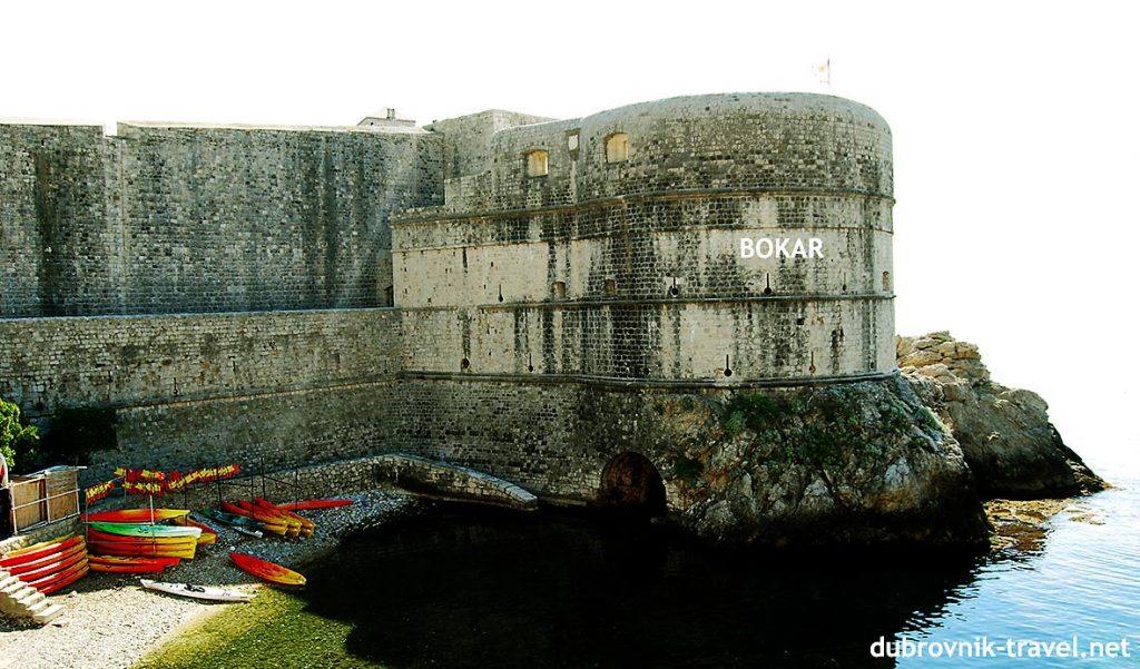 Dubrovniks town walls and Bokar tower