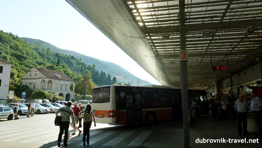 the main bus terminal in dubrovnik