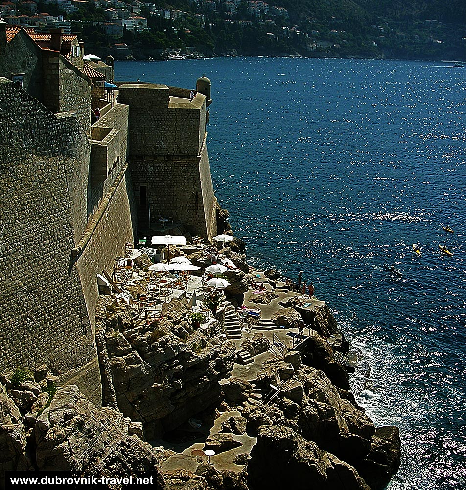 Views over Buža Beach and Bar from Town Walls - Dubrovnik