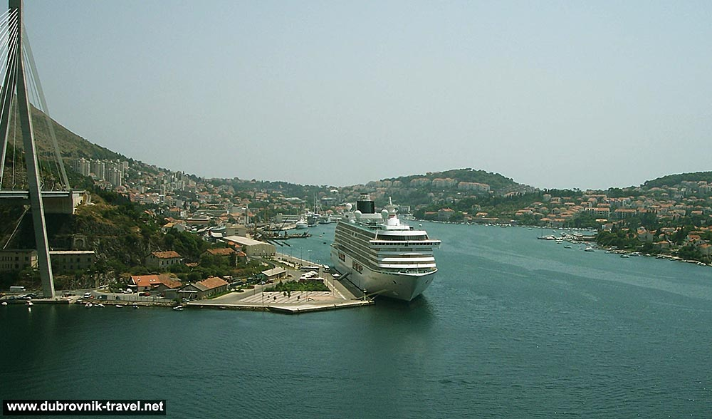 Dubrovnik docking area and cruise terminal