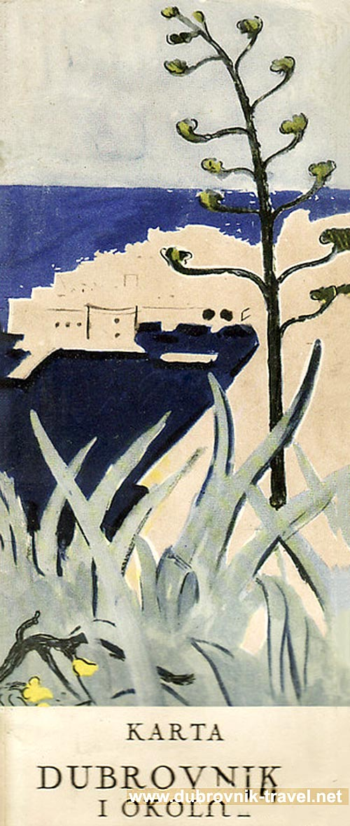 Old Town of Dubrovnik printed in 1953