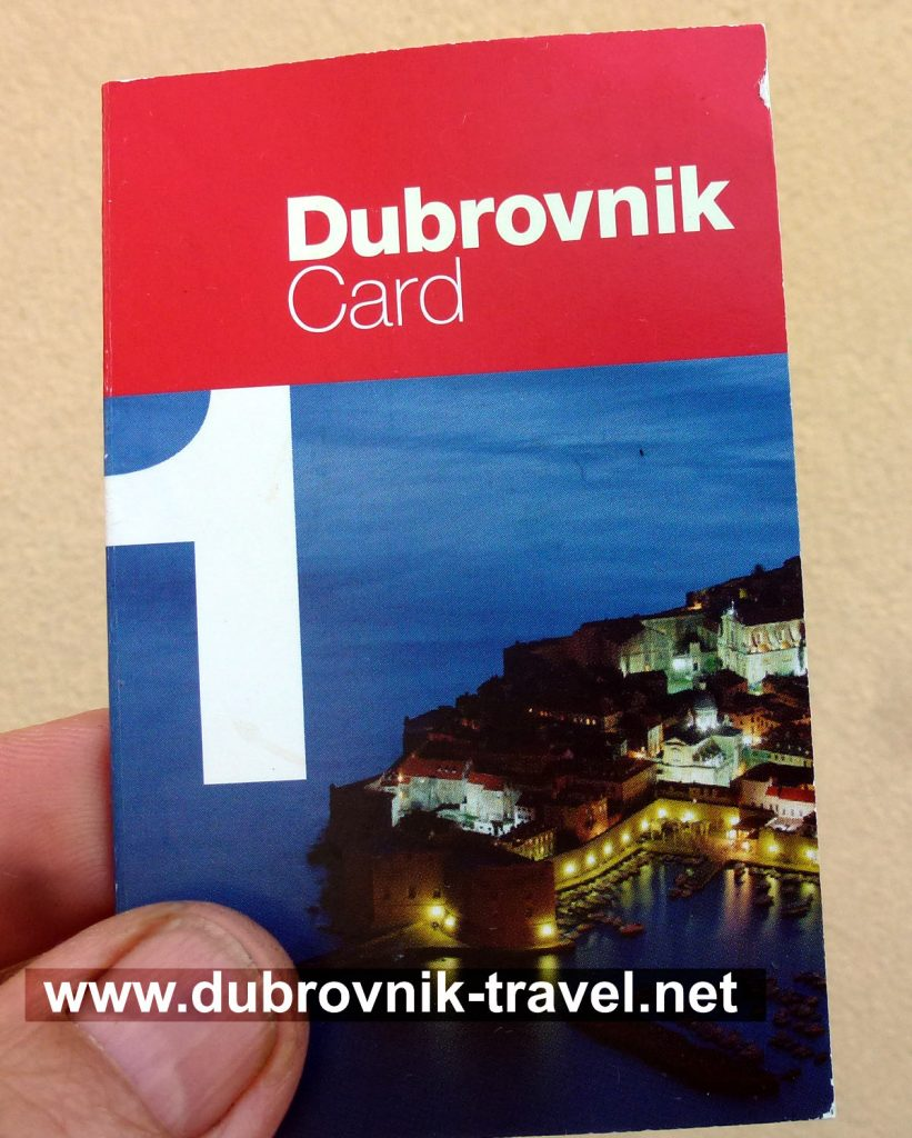 Dubrovnik Card - front cover