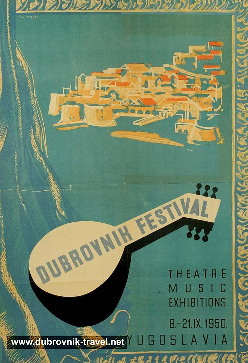 Dubrovnik Festival Poster (1950)