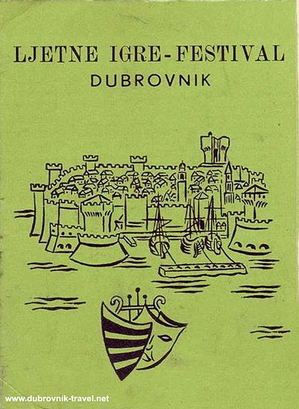 Dubrovnik festival Poster from 1957