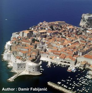 Bird Eye Views over Dubrovnik Old Town